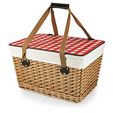 Picnic Time Red Canasta Grande Wicker Basket