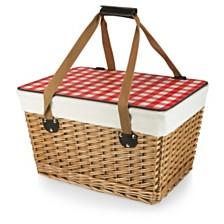 Picnic Time Red Canasta Grande Wicker Basket