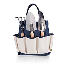 Picnic Time Navy Garden Tote with Tools