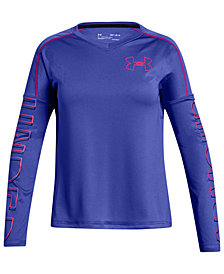 Under Armour Big Girls Tech Graphic-Print T-Shirt