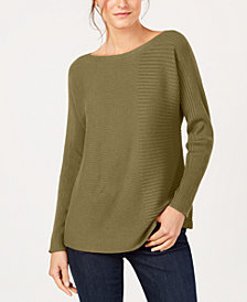 Eileen Fisher Tencel® Boat-Neck Sweater, Regular & Petite