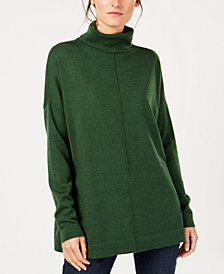 Eileen Fisher Tencel® Center-Seam Relaxed Turtleneck Sweater, Regular & Petite, Created for Macy's
