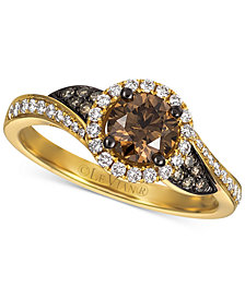 Le Vian Chocolatier® Diamond Swirl Ring (1 ct. t.w.) in 14k Gold