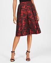 956f6e87834 MSK Jacquard Pleated Midi Skirt