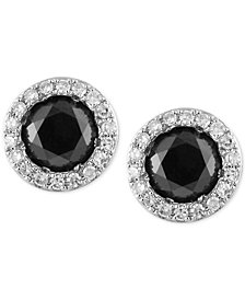 EFFY® Diamond Halo Stud Earrings (9/10 ct. t.w.) in 14k White Gold
