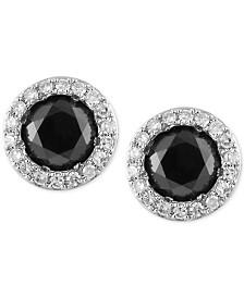EFFY® Diamond Halo Stud Earrings (9/10 ct. t.w.) in 14k White Gold