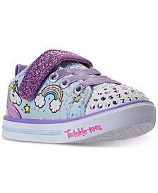 Skechers Toddler Girls' Twinkle Toes: Shuffles - Sparkle Lite Unicorn Light-up Stay-Put Closure Casual Sneakers from Finish Line