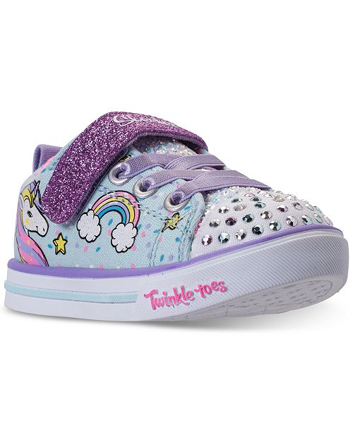 5388fd333ad7 Skechers Toddler Girls rsquo  Twinkle Toes  Shuffles - Sparkle Lite Unicorn  Light-up Stay ...