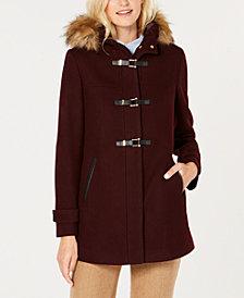 Cole Haan Signature Faux-Fur-Trim Hooded Coat