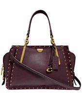 COACH Border Rivets Mixed Leather Dreamer Satchel 4b22510809723