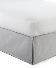 "Cambric Solid Grey Bedskirt 15""-Queen"