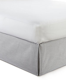 "Cambric Solid Grey Bedskirt 15"" Drop Twin/Twin-XL"