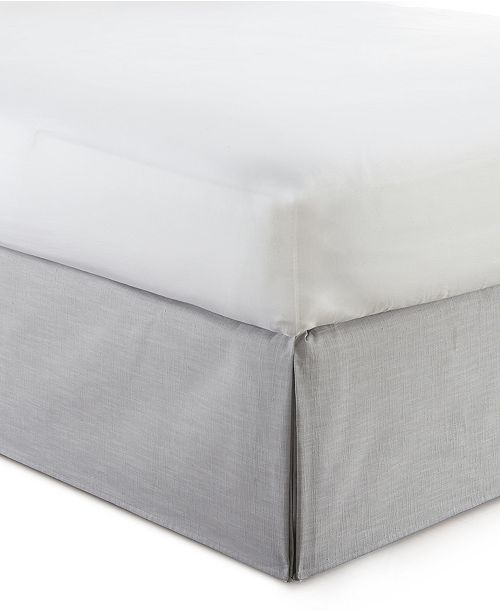 """Colcha Linens Cambric Solid Grey Bedskirt 15""""-Queen"""