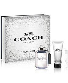 COACH Men's 3-Pc. Platinum Gift Set