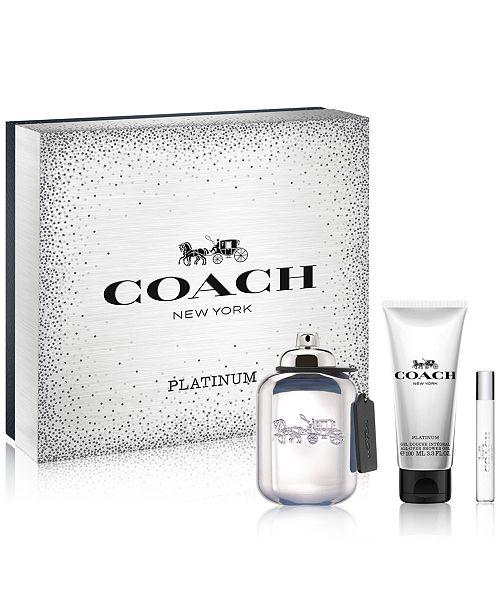 COACH Mens 3 Pc Platinum Gift Set