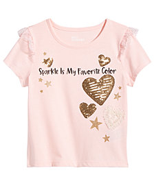 Epic Threads Little Girls Sequin T-Shirt, Created for Macy's