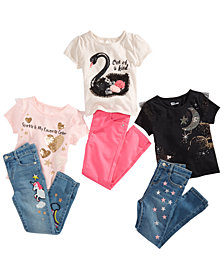 Epic Threads Toddler Girls Graphic T-Shirts & Jeans Separates, Created for Macy's