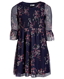 Epic Threads Big Girls Mesh Floral Dress, Created for Macy's