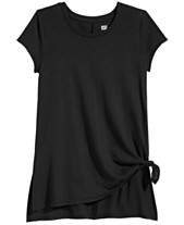 ba783904 Epic Threads Big Girls Side-Tie Solid T-Shirt, Created for Macy's