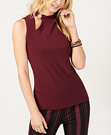 I.N.C. Petite Cutout Tank Top, Created for Macy's