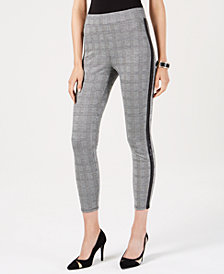 Thalia Sodi Printed Ponté Knit Cropped Pants, Created for Macy's