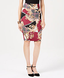 Thalia Sodi Chantal Printed Scuba Skirt, Created for Macy's