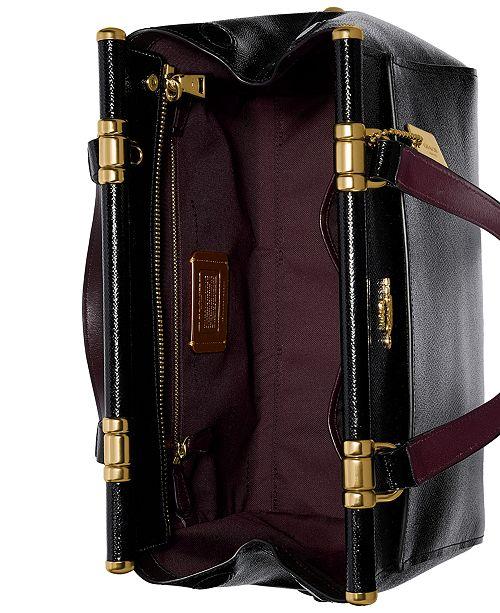 Coach Grace Bag In Crossgrain Patent Leather Handbags Accessories Macy S