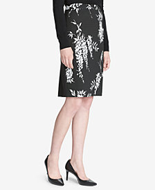 Calvin Klein Jacquard Printed Pencil Skirt