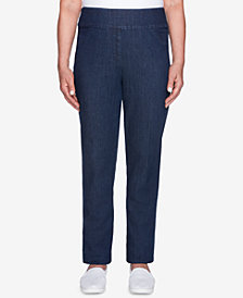 Alfred Dunner Petite News Flash Pull-On Jeans
