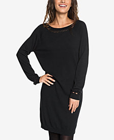Roxy Juniors' V-Back Sweater Dress