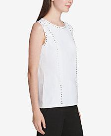 Calvin Klein Studded Sleeveless Blouse