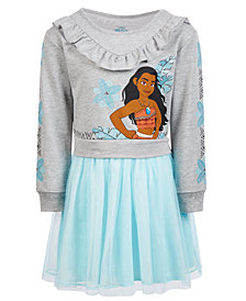 Disney Toddler Girls Layered-Look Moana Dress