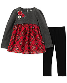Kids Headquarters Toddler Girls 2-Pc. Plaid Tunic & Leggings Set