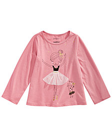 First Impressions Toddler Girls Ballerina Graphic Cotton Shirt, Created for Macy's