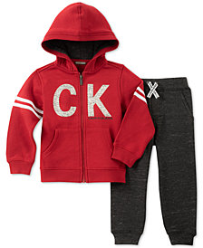 Calvin Klein Little Boys 2-Pc. Full-Zip Hoodie & Jogger Pants Set