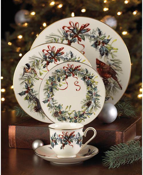 Lenox winter greetings dinnerware collection fine china macys m4hsunfo