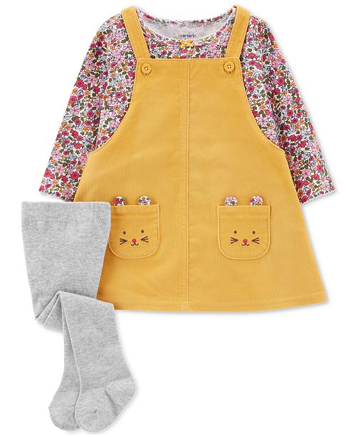 fa0bed77b9fa Carter s Baby Girls 3-Pc. Cotton Jumper