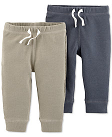 Carter's Baby Boys 2-Pack Cotton Fleece Jogger Pants