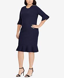 Lauren Ralph Lauren Plus Size Ruffled Shift Dress
