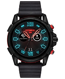 Diesel Men's Full Guard 2.0 Black Silicone Strap Touchscreen Smart Watch 48mm
