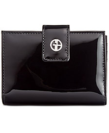 Giani Bernini Patent Framed Wallet, Created for Macy's