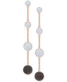Swarovski Rose Gold-Tone Crystal Lollipop Linear Drop Earrings