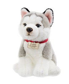 CLOSEOUT! Toy Plush Puppy Floppy Husky 10inch