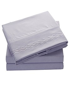 Brushed Microfiber  Bedding - Wrinkle, Fade, Stain Resistant - Hypoallergenic - California King