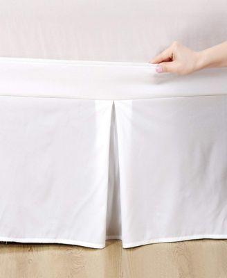 Microfiber Tailored Bed-Skirt Abrasion Resistant, Quadruple Pleated  - Full
