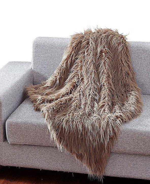 De Moocci Faux Fur Throw Blanket, Super Soft Mongolian Fuzzy Light Weight Luxurious Cozy - 50 x 60