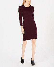 Calvin Klein Puff-Sleeve Sweater Dress