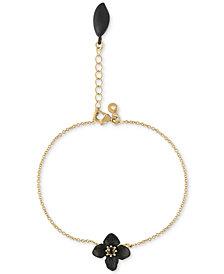 RACHEL Rachel Roy Gold-Tone Stone Flower Flex Bracelet