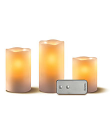Studio Mercantile 3pc Flameless LED Candle Set with Remote Control
