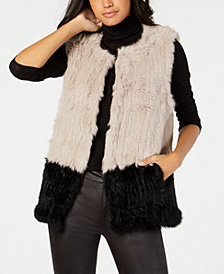 Marcus Adler Colorblocked Fur Vest